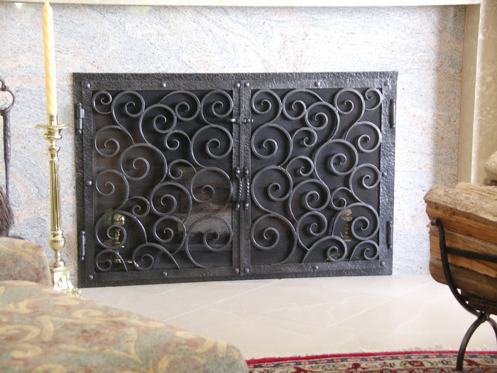 Stone Apple Fireplace Screens Doors San Diego Wire Mesh Fenders